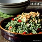 Creamed Coconut Curry Spinach   a fast and easy side   LC CG DF Paleo Vegan   http://lowcarbmaven.com