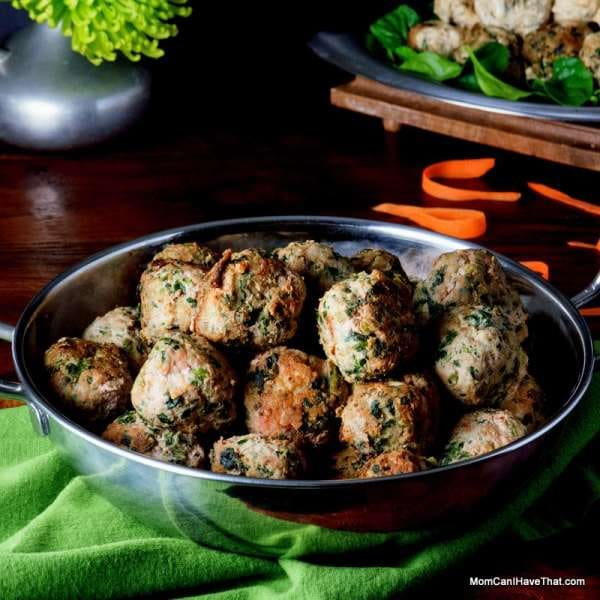 Curried Spinach Turkey Meatballs | Mom, Can I Have That?