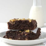 Grain-free, Chocolate Banana Bread Brownies are amazingly moist and fudgy. | low carb, gluten-free, dairy-free, Paleo | http://lowcarbmaven.com