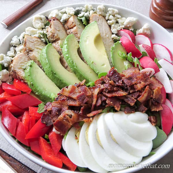 Cobb Salad - 6 net carbs | Low Carb Maven