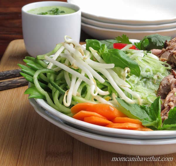 Thai Beef Salad Noodle Bowl | Mom, Can I Have That?