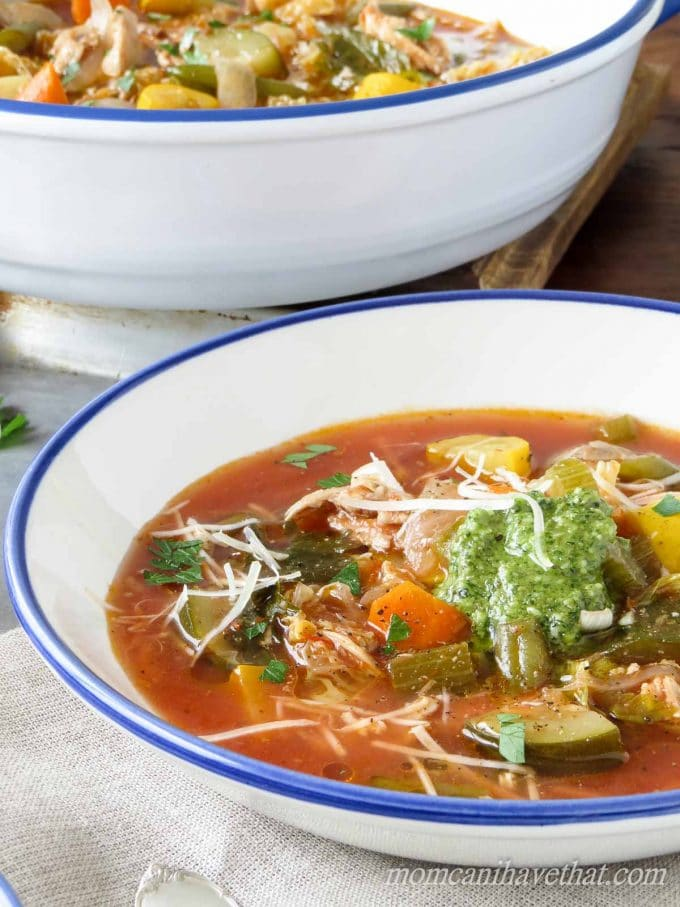 Healthy Chicken Minestrone Soup | Mom, Can I Have That?