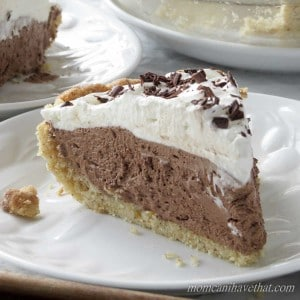 Low Carb French Silk Pie is 4 net carbs per serving. | low carb, gluten-free, keto, thm | lowcarbmaven.com