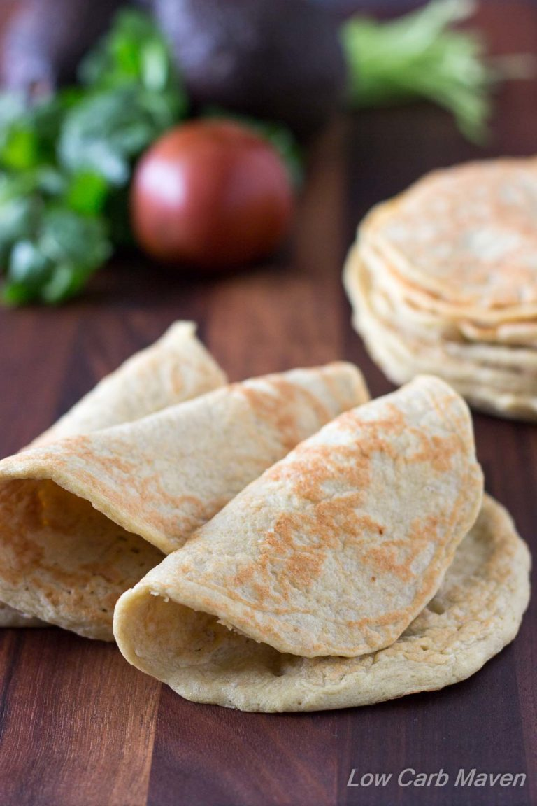 Almost Zero Carb Low Carb Wraps are great as soft tortilla shells or as sandwich wraps | Low Carb, Gluten-free, Primal, Keto, THM