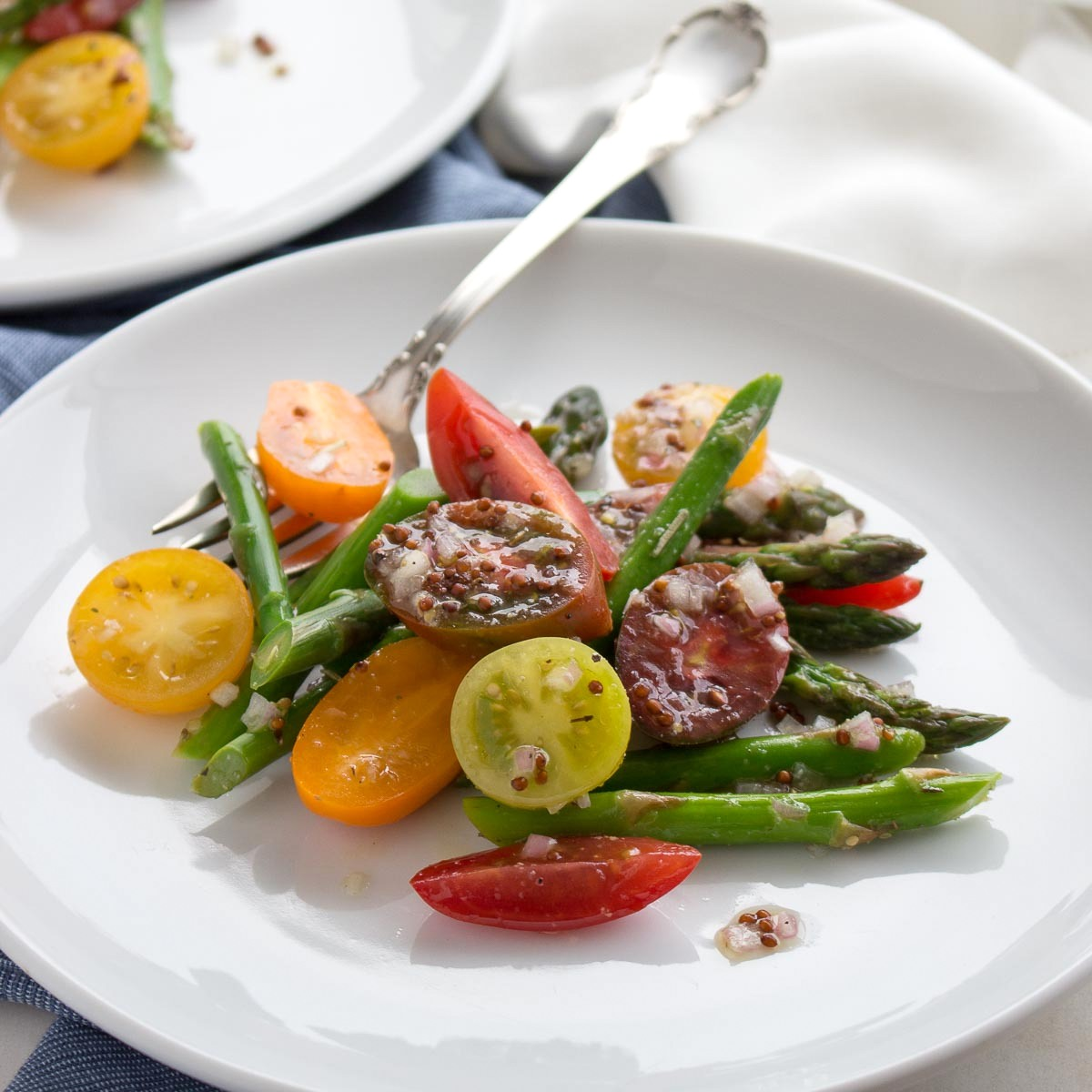 Heirloom Tomato and Asparagus Salad | Low Carb Maven