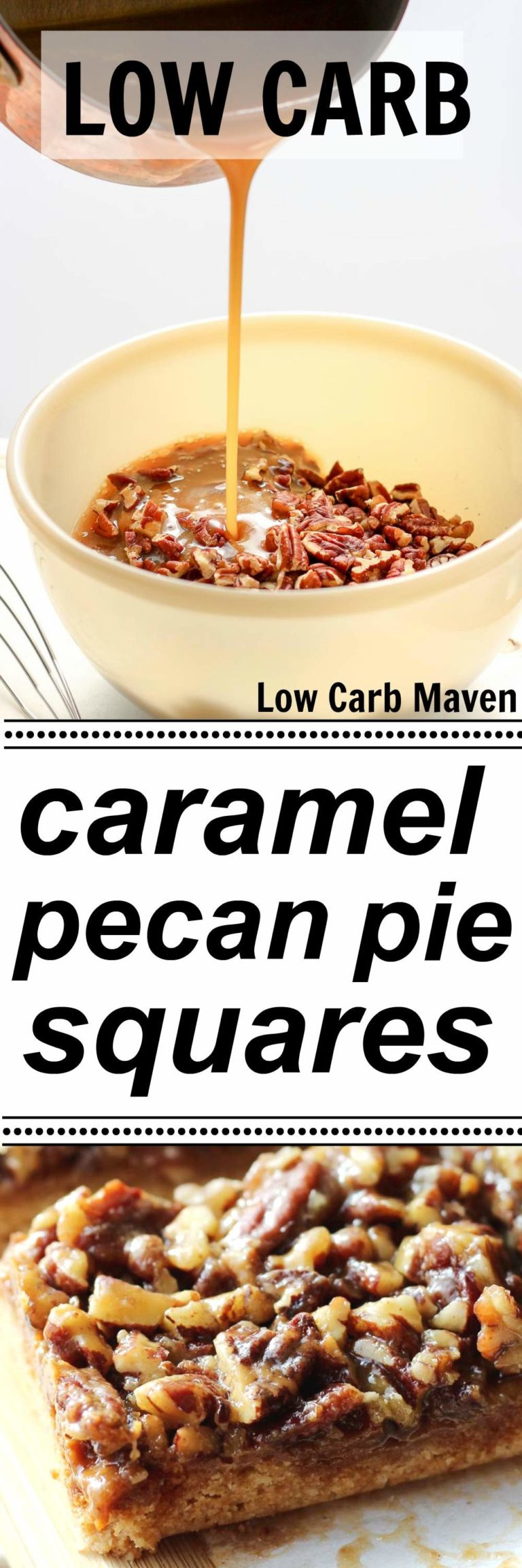 Low Carb Pecan Pie Bars (sugar-free)