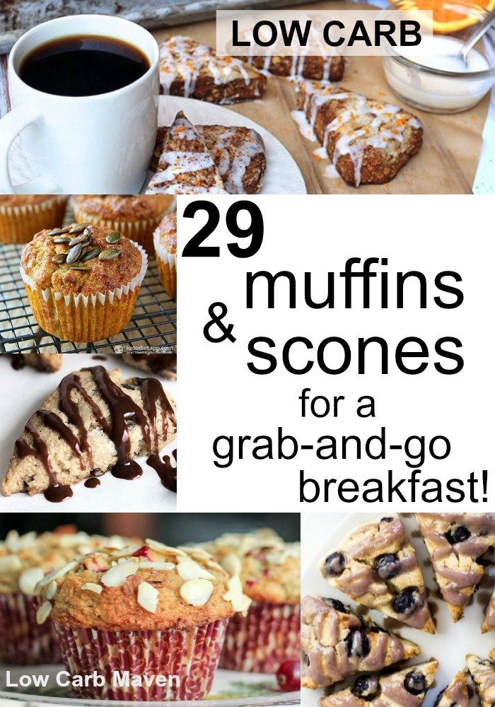 29 Low Carb Muffins & Scones for a Grab-and-Go Breakfast!