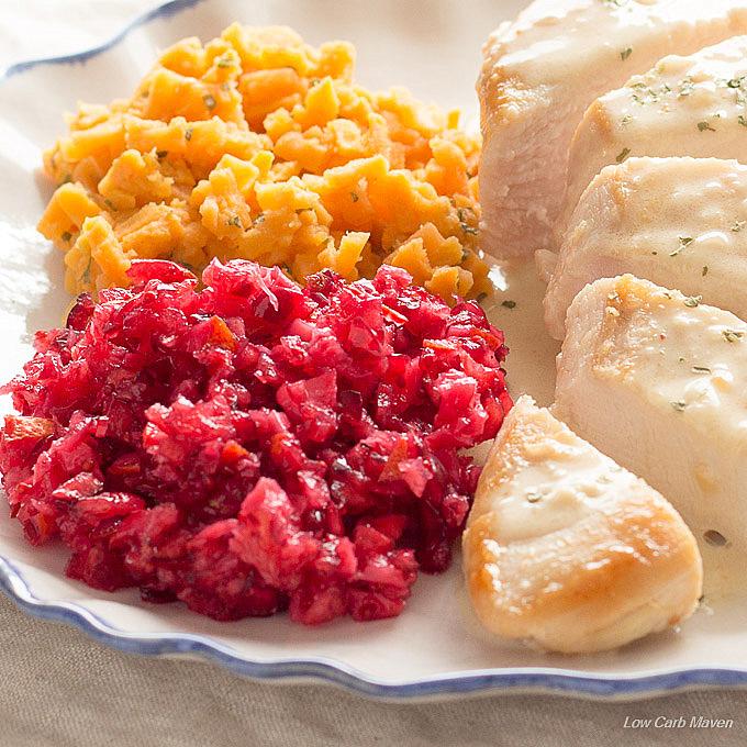 Simple way to make cranberry sauce less tart