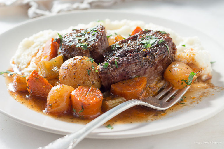 Classic Low Carb Pot Roast With Vegetables Amp Gravy Low