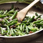 This healthy Green Bean Mushroom Saute is a perfect low carb & keto side.