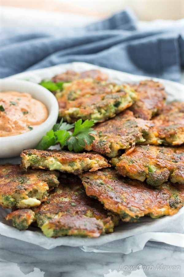 Broccoli Fritters With Cheddar Cheese (Easy, Low Carb Recipe)
