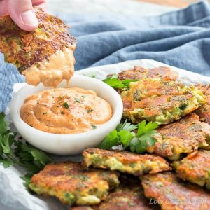 Broccoli Fritters with Cheddar Cheese (Easy Low Carb Recipe)