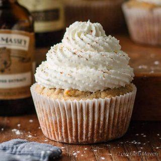 Sugar Free Pumpkin Spice Latte Cupcakes
