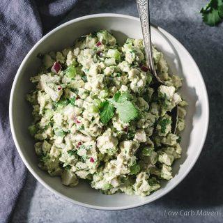 keto avocado chicken salad recipe: no mayo
