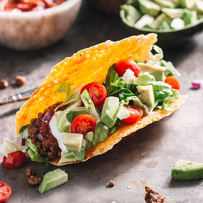 Easy Ground Beef Taco Salad Recipe: Best Ground Beef Taco Recipe (Low Carb, Keto)