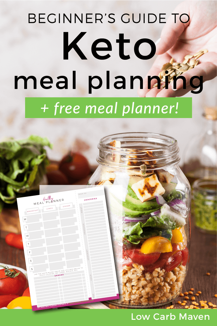 The beginners guide to Keto meal planning (+ a free healthy meal planner!)   Low Carb Maven