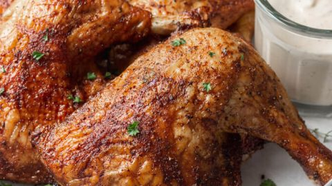 Smoked Chicken Leg Quarters (pellet grill)