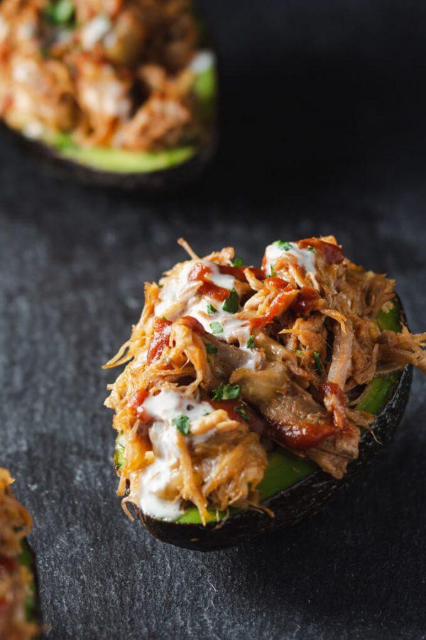Pulled Pork Stuffed Avocado Boats Recipe (Keto)