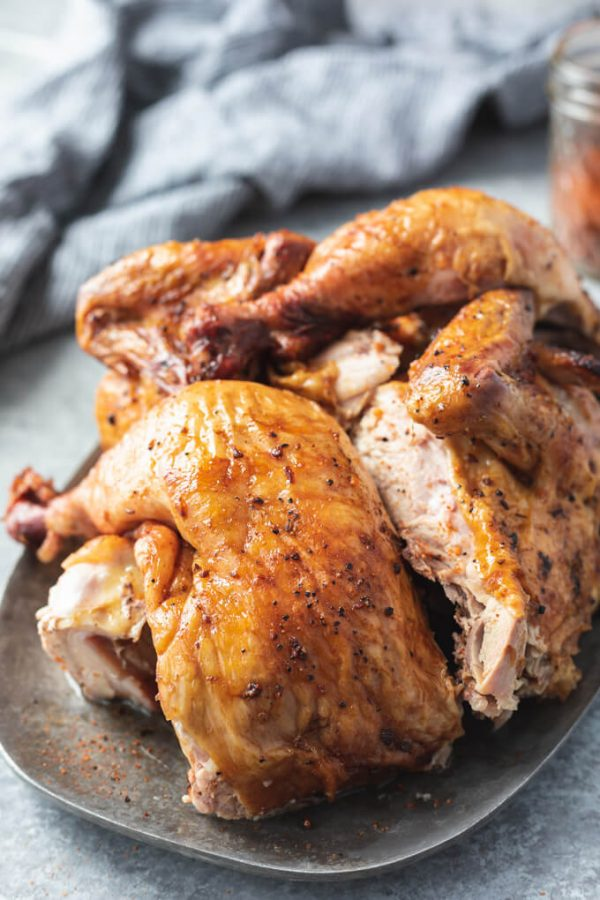Smoked Beer Can Chicken with Dry Rub