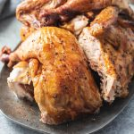 Juicy, Smoked Beer Can Chicken with Dry Rub - an easy chicken recipe for low carb and keto diets.