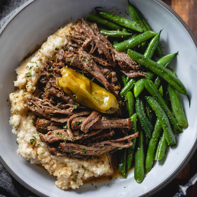 Slow Cooker Mississippi Roast (pepperoncini pot roast)