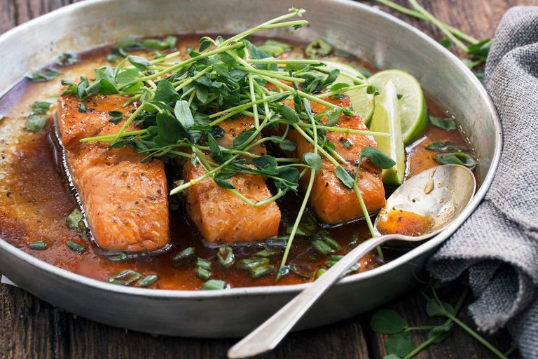 Vietnamese Inspired Instant Pot Salmon (with oven method too!)