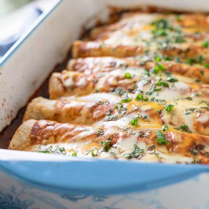 Keto BBQ Chicken Enchiladas Recipe