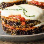 keto eggplant parmesan stacks